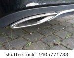 car exhaust pipe smoke fumes | Shutterstock . vector #1405771733