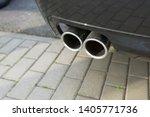 car exhaust pipe smoke fumes | Shutterstock . vector #1405771736