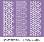 vector set of line borders with ... | Shutterstock .eps vector #1405776383