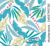seamless pattern with tropical... | Shutterstock .eps vector #1405795730