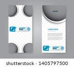 flyer template. vectical banner ... | Shutterstock .eps vector #1405797500