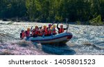 Rafting In A Big Boat On A...