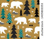 seamless vector pattern with... | Shutterstock .eps vector #1405803353