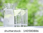 early summer  drink  cold water    Shutterstock . vector #140580886