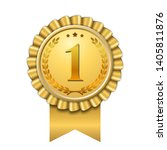 award ribbon gold icon number... | Shutterstock .eps vector #1405811876