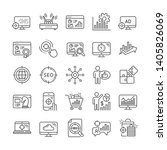 seo line icons. set of business ... | Shutterstock .eps vector #1405826069