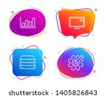 servers  report diagram and... | Shutterstock .eps vector #1405826843
