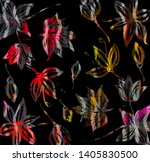 zigzag strips on colorful... | Shutterstock . vector #1405830500