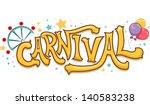 illustration of carnival text... | Shutterstock .eps vector #140583238