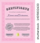 pink diploma template or... | Shutterstock .eps vector #1405832633