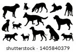 dogs silhouettes vector set... | Shutterstock . vector #1405840379