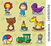 second set of toys. collection... | Shutterstock .eps vector #140585056