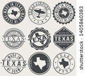 texas set of stamps. travel... | Shutterstock .eps vector #1405860383