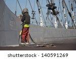 man working on a bridge... | Shutterstock . vector #140591269