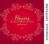 wreath of roses or peonies... | Shutterstock .eps vector #1405931486