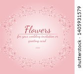 wreath of roses or peonies... | Shutterstock .eps vector #1405931579