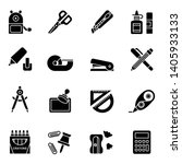 office stationery icons... | Shutterstock .eps vector #1405933133