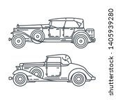 line vector icon set american...   Shutterstock .eps vector #1405939280
