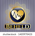 gold badge or emblem with... | Shutterstock .eps vector #1405970423