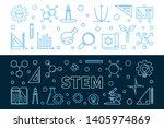 set of 2 science  technology ... | Shutterstock .eps vector #1405974869