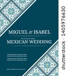 traditional mexican wedding... | Shutterstock .eps vector #1405976630