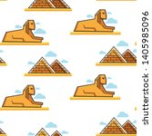 egypt sphinx and pyramids...   Shutterstock .eps vector #1405985096