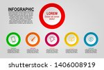 infographic design with several ...