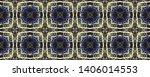 tibetan fabric. luminous neon... | Shutterstock . vector #1406014553