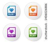 color ruby file document icon.... | Shutterstock .eps vector #1406026886