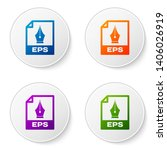 color eps file document icon.... | Shutterstock .eps vector #1406026919