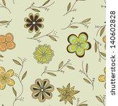 ornate floral seamless texture  ... | Shutterstock . vector #140602828