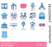 coworking space icons including ... | Shutterstock .eps vector #1406033789