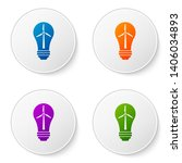 color light bulb with wind... | Shutterstock .eps vector #1406034893