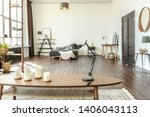 spacious studio apartment... | Shutterstock . vector #1406043113