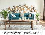 spacious studio apartment... | Shutterstock . vector #1406043146