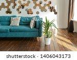 spacious studio apartment... | Shutterstock . vector #1406043173