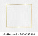 gold shiny glowing frame with... | Shutterstock .eps vector #1406051546