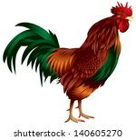 rooster realistic color vector...   Shutterstock .eps vector #140605270
