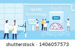 nano technology lab and... | Shutterstock .eps vector #1406057573
