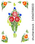 traditional painting in russian ... | Shutterstock . vector #1406058833