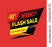 24 hour flash sale banner.... | Shutterstock .eps vector #1406063570