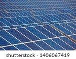 solar panel plant. sustainable... | Shutterstock . vector #1406067419
