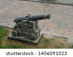 Old Bronze Antique Cannon....