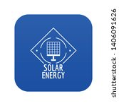 solar energy icon blue vector... | Shutterstock .eps vector #1406091626