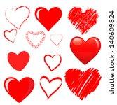Vector hearts set | Shutterstock vector #140609824