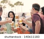 group of attractive young... | Shutterstock . vector #140611183