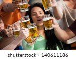 group of attractive young... | Shutterstock . vector #140611186