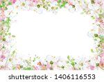 vector beautiful  floral  frame ... | Shutterstock .eps vector #1406116553
