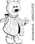 Cute Bear With Bird Cartoon...
