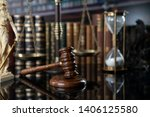 lawyer concept background. law... | Shutterstock . vector #1406125580